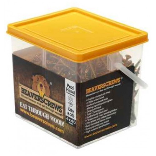 Beaverscrews 8 x 1½ High Performance Woodscrews (Tub of 800)