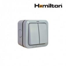 Hamilton Elemento R22Ngy Switch 2G 2 Way 10Ax Gry