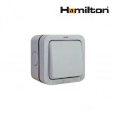 Hamilton Elemento R21Ngy Switch 1G 2 Way 10Ax Gry