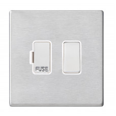 Hamilton Hartland G2 Stainless Steel 1 Gang 13A DP Switched Fused Spur with White Insert