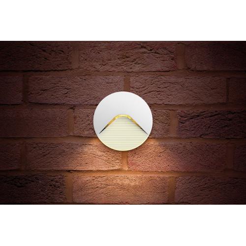 Integral LED Outdoor PathLux Step 2.2W, Warm White LED, White