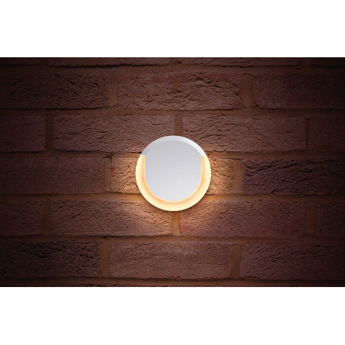 Integral LED Outdoor Lunox Wall Light 13W, White, 700Lm