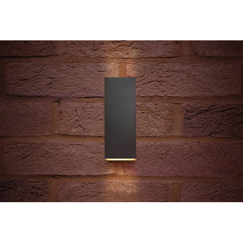 Integral LED Outdoor Pablo Wall Light 8W, Dark Grey, Warm White