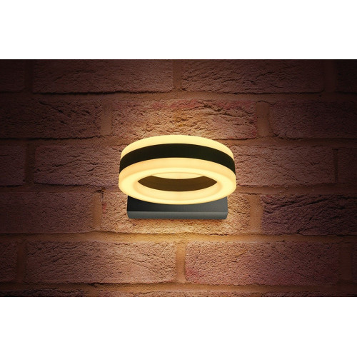 Integral LED Outdoor Ciclo Wall Light, 11W, Dark Grey, Warm White