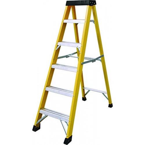 Fibreglass Ladder 6 Tread Yellow