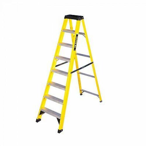 Fibreglass Ladder 8 Tread Yellow