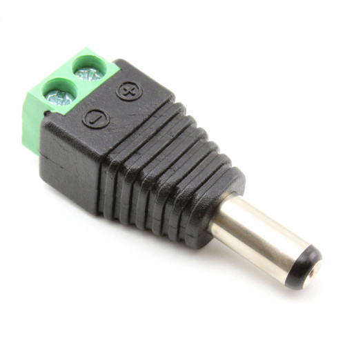 Male Power Connector CCTV Screw Terminal