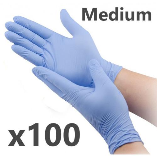 Nitrile Gloves (box of 100) MEDIUM