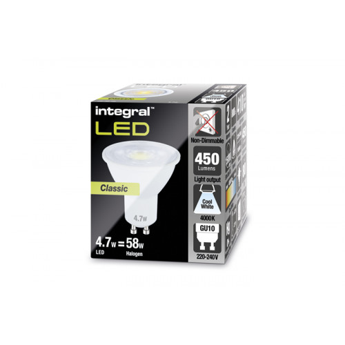 INTEGRAL GU10 PAR16 4.7W (56W) 4000K 450lm Non-Dimmable Lamp