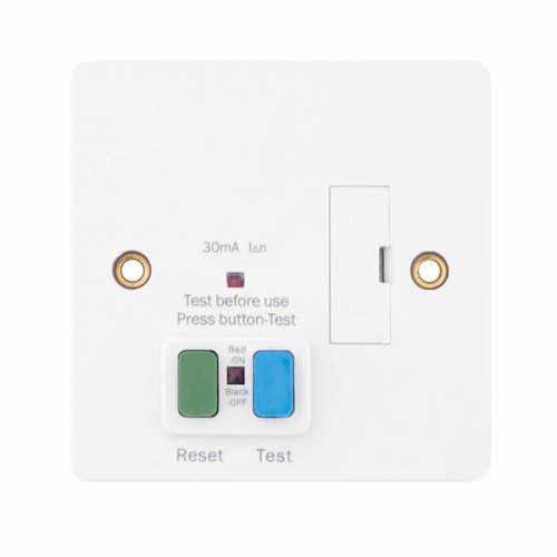 13 Amp Fused RCD Connection Unit – Passive/Latching – Unswitched