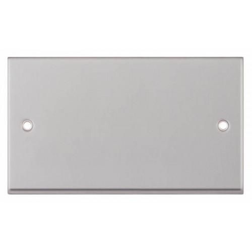 Selectric 7M-Pro Satin Chrome 2 Gang Blank Plate 7MPRO-143