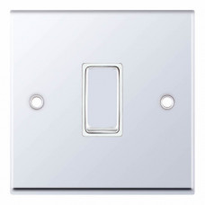 Selectric 7M-Pro Polished Chrome 1 Gang 10A Intermediate Switch with White Insert 7MPRO-307