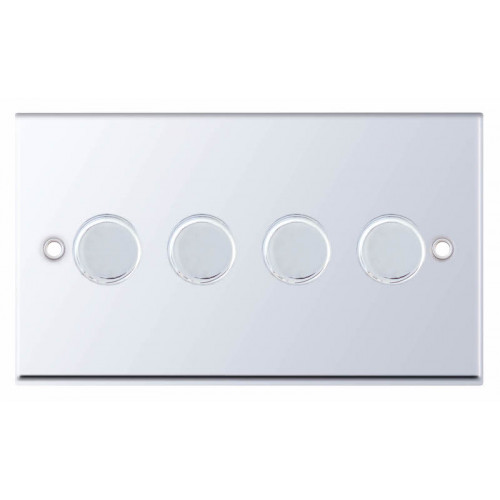 Selectric 7M-Pro Polished Chrome 4 Gang 400W 2 Way Dimmer Switch 7MPRO-314