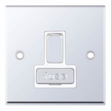 Selectric 7M-Pro Polished Chrome 13A DP Switched Fused Connection Unit with White Insert 7MPRO-328