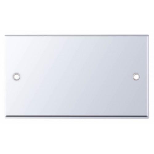Selectric 7M-Pro Polished Chrome 2 Gang Blank Plate 7MPRO-343
