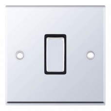 Selectric 7M-Pro Polished Chrome 1 Gang 10A 2 Way Switch with Black Insert 7MPRO-501