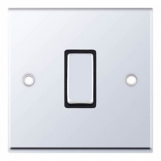 Selectric 7M-Pro Polished Chrome 1 Gang 10A Intermediate Switch with Black Insert 7MPRO-507