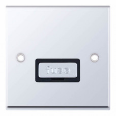Selectric 7M-Pro Polished Chrome 13A Fused Connection Unit with Black Insert 7MPRO-527