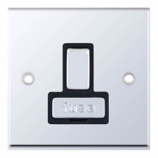 Selectric 7M-Pro Polished Chrome 13A DP Switched Fused Connection Unit with Black Insert 7MPRO-528
