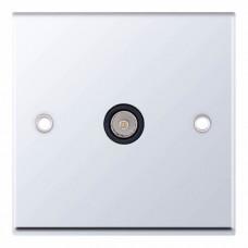 Selectric 7M-Pro Polished Chrome 1 Gang TV Socket with Black Insert 7MPRO-533