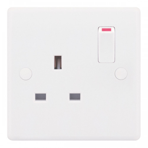 Selectric Smooth 1 Gang 13A Switched Socket SSL521