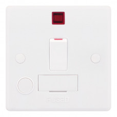 Selectric Smooth 13A DP Switched Fused Connection Unit with Flex Outlet and Neon SSL532