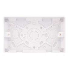 Selectric Smooth 2 Gang 25mm Surface Pattress Box SSL552