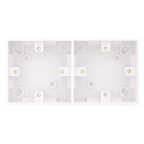 Selectric Smooth Dual 1 Gang 25mm Surface Pattress Box SSL557