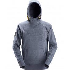 Snickers Hoodie Logo Blue Melange 2881