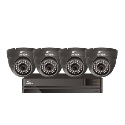 OYN-X 5MP 4 CHANNEL 1TB DVR CCTV KIT 4 X 5MP VARIFOCAL TURRET CAMERAS GREY