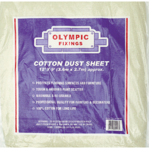 Olympic Cotton Dust Sheet 12X9Ft