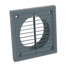 """4"""" Fixed Grill Grey 100mm"""