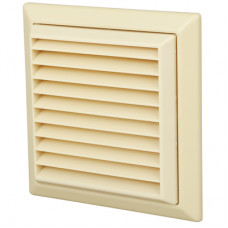 """4"""" Fixed Grill Beige 100mm"""
