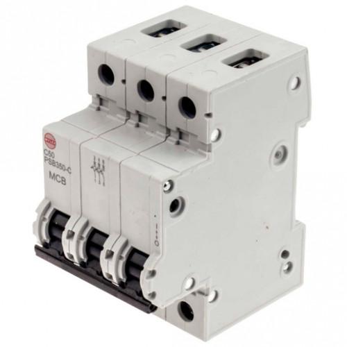 WYLEX MCB 3P 50A 10KA PSB350-C