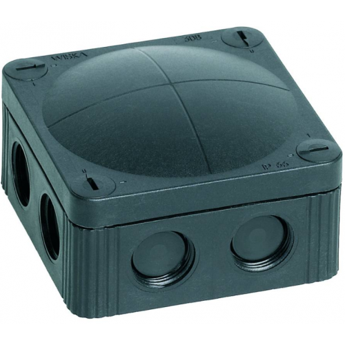 WISKA COMBI 85X85 IP66 BLACK JUNCTION BOX